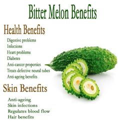 Bitter melon is good for tumors, AIDS, and other viruses