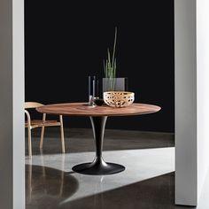 Table ronde design plateau bois - Flûte Sovet®