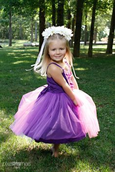 RAPUNZEL  dress retro  TUTU princess dress from Lover Dovers for toddlers and girls fun for special occasion or birthday party costume. $52.00, via Etsy.