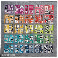 Patchwork City: 75 Innovative Blocks for the Modern Quilter • 6 Sampler Quilts by Elizabeth Hartman #PatchworkCity