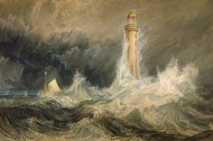 Bell Rock Lighthouse - 1819 -Joseph Mallord William Turner