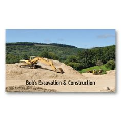 Construction excavatingbusiness card templates excavating business construction laying pipe business card logos excavator business card zazzle colourmoves