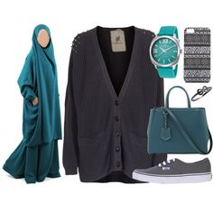 """Go to the cours -->"" by jilbabi on Polyvore #Overhead jilbab #khimar #jilbab"