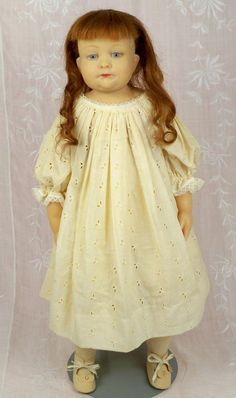 22 inch Vintage Wax Doll by Gladys MacDowell, NIADA Artist and Founder of UFDC Gladys MacDowell Study Club