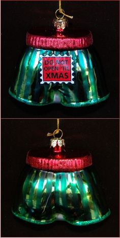Do Not Open 'Til XMAS Boxer Shorts Personalized Christmas Ornament
