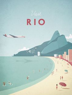 Vintage Rio Travel Poster (For Sale)