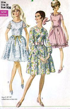 1960s Misses Party Dress Vintage Sewing Pattern by MissBettysAttic, $8.00