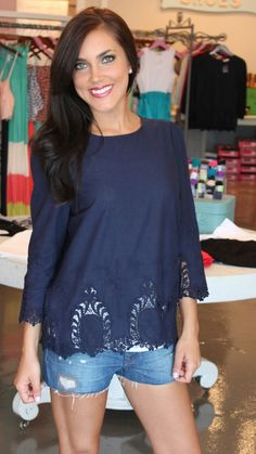 Dottie Couture Boutique - Embroidered Tunic- Navy, $42.00 (http://www.dottiecouture.com/copy-of-embroidered-tunic-white/)