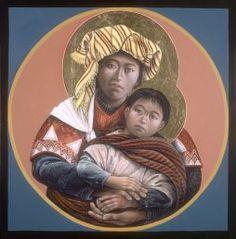 JOHN GIULIANI, Guatemalan Madonna Child https://melaniejeanjuneau.wordpress.com/2015/04/10/ethnic-images-of-mary/
