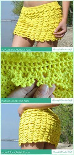 Crochet Layered Skirt Free Pattern - Crochet Women Skirt Free Patterns: Would need to crochet it longer. Crochet Skirt Pattern, Crochet Skirts, Crochet Clothes, Crochet Patterns, Skirt Patterns, Coat Patterns, Blouse Patterns, Clothing Patterns, Sewing Patterns