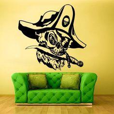 Wall Vinyl Decal Sticker Bedroom Kids Decal Pirate Flibuster Buccaneer Corsair z375