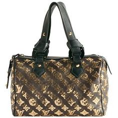 Louis Vuitton Limited Edition Monogram Eclipse Speedy Satchel Handbag