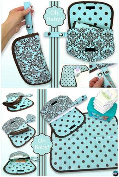 DIY Baby Travel Diaper Case Changing Pad Sew Pattern Picture Instructions