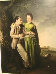 A Scene in Jamaica: Portrait of the Artist and his Companion - Philip Wickstead 18th Century Dress, 18th Century Clothing, 18th Century Fashion, Baroque, Rococo, Couleur Chartreuse, Riding Habit, Next Clothes, French Revolution