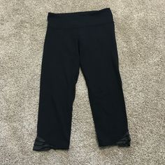 Lululemon Capri Good used condition, cute detail at bottom. No trades! Tight at calf and flattering! lululemon athletica Pants