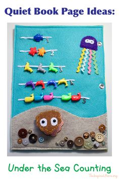 TheInspiredHome.org // Toddler Quiet Book Page Ideas: Under the Sea Counting