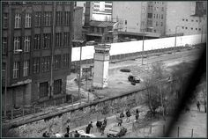 The Berlin Wall. Photo taken from a building across the street.