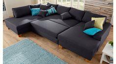 Jetzt Home affaire Wohnlandschaft, wahlweise mit Bettfunktion günstig im cnouch Online Shop bestellen