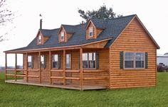 I wanna live in a log cabin! myminilodge.com makes these homes ready to live in and delivered to your land! Maybe someday...