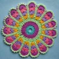 Crochet Mandala Wheel made by  Wendy, Newcastle-Upon-Tyne, UK for yarndale.co.uk