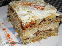Érdekel a receptje? Kattints a képre! Hungarian Recipes, Food Humor, Lasagna, Feta, Sandwiches, Banana Bread, Bacon, Food And Drink, Rice