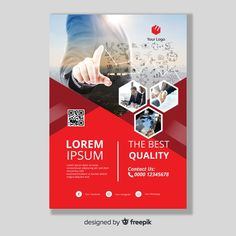 Explore more than ready to use brochure design templates for pamphlets, proposals, reports, and manuals in a variety of styles. Free Brochure, Brochure Template, Brochure Printing, Business Poster, Business Brochure, Graphic Design Brochure, Event Poster Design, Business Flyer Templates, Corporate Flyer