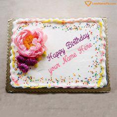 Fruity Chocolate Birthday Cake With Name Sameer