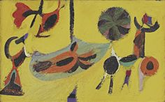 "artmastered: "" Arshile Gorky, Argula, 1938, oil on canvas, 38.1 x 61 cm, MoMA, New York. Source """