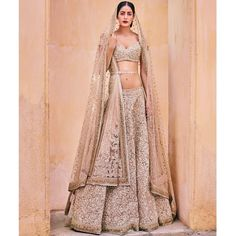 There are many conventional Indian bridal lehenga designs for women. Indian bridal lehenga choli can be the quality option for the big fats Indian wedding ceremony Sabyasachi Lehenga Bridal, Indian Bridal Lehenga, Indian Bridal Wear, Indian Wedding Outfits, Bridal Outfits, Indian Outfits, Anarkali, Silk Lehenga, Net Saree