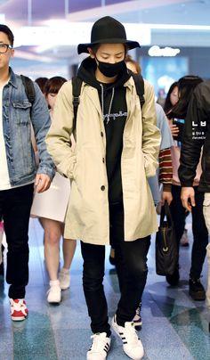150420- EXO Park Chanyeol; Haneda Airport to Gimpo Airport #exok #fashion #style