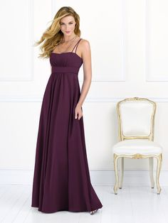 After Six Bridesmaid Style 6525  Fabric: Nu-Georgette   Full-length Nu-Georgette empire waist dress with shirred bodice and skirt. Sizes available 00-30W, and 00-30W extra length.  Dress Colors: viewing - bordeaux (available in 55 other colors too)