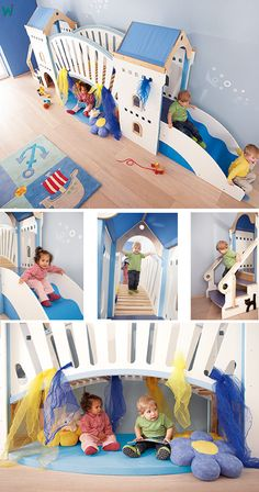 It is much more beautiful than the castle in the story book. It is much more beautiful than the castle in the story book. It can& go up the stairs fast en Daycare Rooms, Home Daycare, Baby Playroom, Baby Room, Indoor Play Areas, Kindergarten Design, Baby Clothes Storage, Infant Classroom, Toddler Rooms