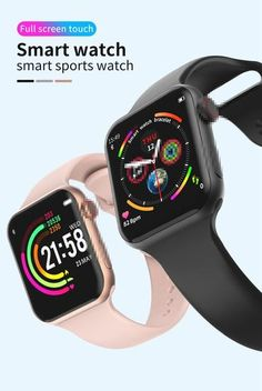 apple watch series 5 Clone Silver Aluminum Case With White Band. Sneakers For Sale, Casual Sneakers, Smartwatch, Mens Jogger Pants, Apple Watch Series 3, Sport Watches, Bath And Body Works, Band, Stuff To Buy