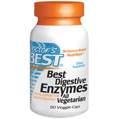 Doctor's Best, Best Digestive Enzymes, All Vegetarian, 90 Veggie Caps