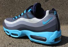 Nike Air Max 95 No Sew | Grey & Gamma Blue
