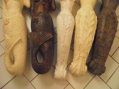 Wooden mermaid tails. Nice details.