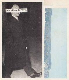 "Saatchi Art Artist Micosch Holland; Collage, ""LE PIÉTON DE L'AIR"" #art"