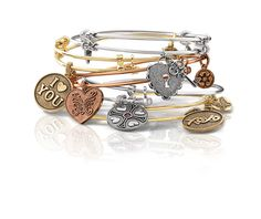 Stackable charm bangles - Made in the USA!