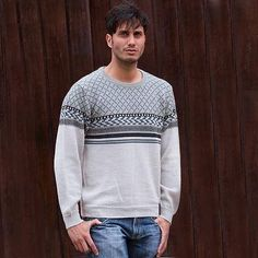 e95eef5406e10c Men's 100% alpaca sweater, 'Renewal' - Men's Alpaca Wool Pullover Sweater  Alpaca
