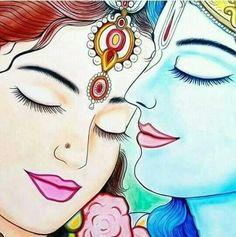 Jai Shree Radhe Krishna - Hare Krishna ॐ Kerala Mural Painting, Indian Art Paintings, Painting Art, Mandala Art, Lord Shiva Painting, Ganesha Painting, Madhubani Art, Madhubani Painting, Arte Krishna