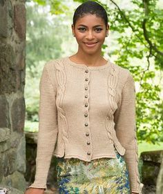 Knit yourself the perfect cabled cardigan for Oktoberfest or other fall fun! This classic design features cables on the back for added interest.