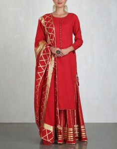 Check out our Red Kurta and Sharara Set by SUKRITI & AAKRITI available at Ogaan Online store at special price. Check out our Red Kurta and Sharara Set by Sukriti & Aakriti available at Ogaan Online store at best price Pakistani Dress Design, Pakistani Dresses, Indian Dresses, Indian Outfits, Pakistani Bridal, Gharara Designs, Kurta Designs, Dress Designs, Indian Attire