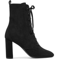 Saint Laurent Lou Lou suede ankle boots (€780) ❤ liked on Polyvore featuring shoes, boots and ankle booties