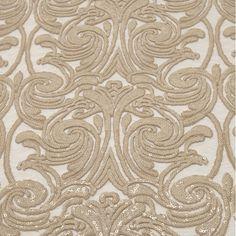 Tecido tule bordado paetê nude smoke gray