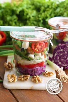 Kavanoz Salatası (Tahıllı)   Mutfak Sırları – Pratik Yemek Tarifleri