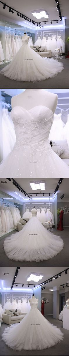 Real photo Robe De Mariage Wedding Dresses 2018 Vestidos De Novia A-line White Sweetheart Custom Made With Lace Appliques