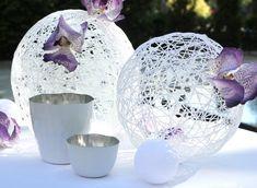 Esferas decorativas - http://www.bodas.net/articulos/como-hacer-esferas-decorativas--c2175