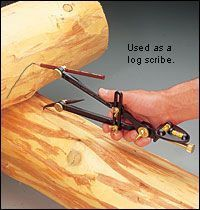 Veritas® Transfer/Log Scribe - Lee Valley Tools ok so cool great for .oh say log cabin for chaos getaway. Woodworking Techniques, Woodworking Projects, Router Woodworking, Popular Woodworking, Wood Logs, Log Furniture, Western Furniture, Furniture Design, Home Tools