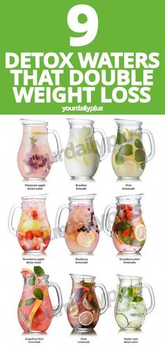 These incredible detox water recipes not only help with bloating and digestion b. - - These incredible detox water recipes not only help with bloating and digestion but can DOUBLE your weight loss for that flat tummy of your dreams. Nutrition Day, Sport Nutrition, Complete Nutrition, Nutrition Shakes, Nutrition Guide, Smoothie Detox, Smoothie King, Healthy Detox, Healthy Drinks