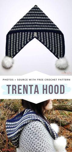 Trenta Hood Free Crochet Pattern What's the main reason why you should croche. Trenta Hood Free Crochet Pattern What's the main reason why you should crochet Trenta Hood in an Crochet Hooded Scarf, Crochet Beanie, Crochet Scarves, Crocheted Hats, Knit Hats, Crochet Crafts, Free Crochet, Crochet Baby, Knit Crochet